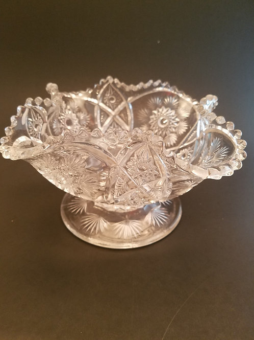 Vintage Glass Pedestal Bowl