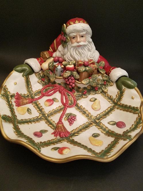 """Fitz & Floyd Classics Renaissance Santa Platter 12.5"""""""