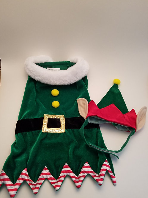 Pet Holiday Collection Elf Costume