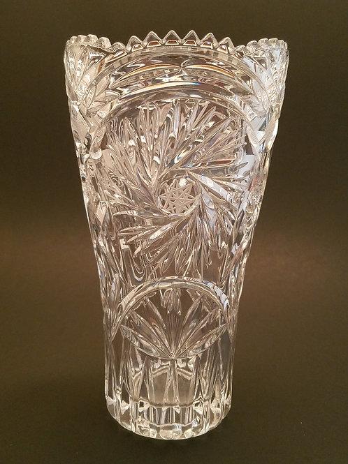 Vintage Crystal Glass Vase