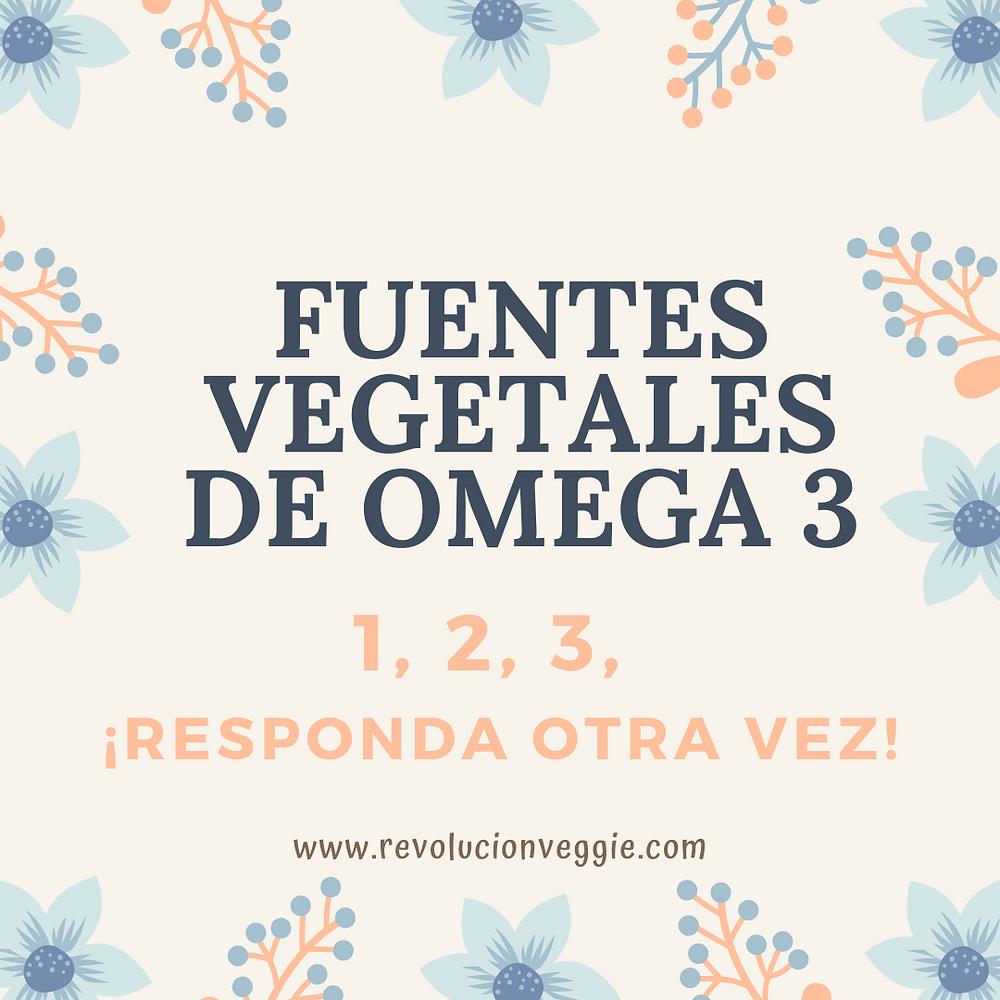 Fuentes vegetales omega 3