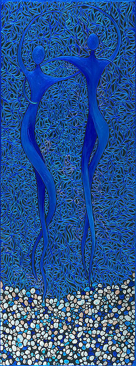Blue and Pearl Dancers