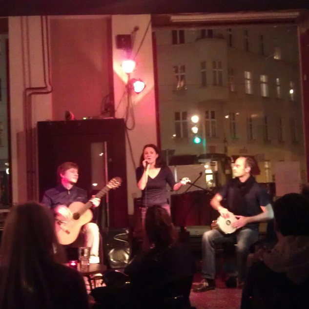 """As a guest performer next to the wonderful Alexia Rodrian at """"Shared Night""""in the BFlat in Berlin"""