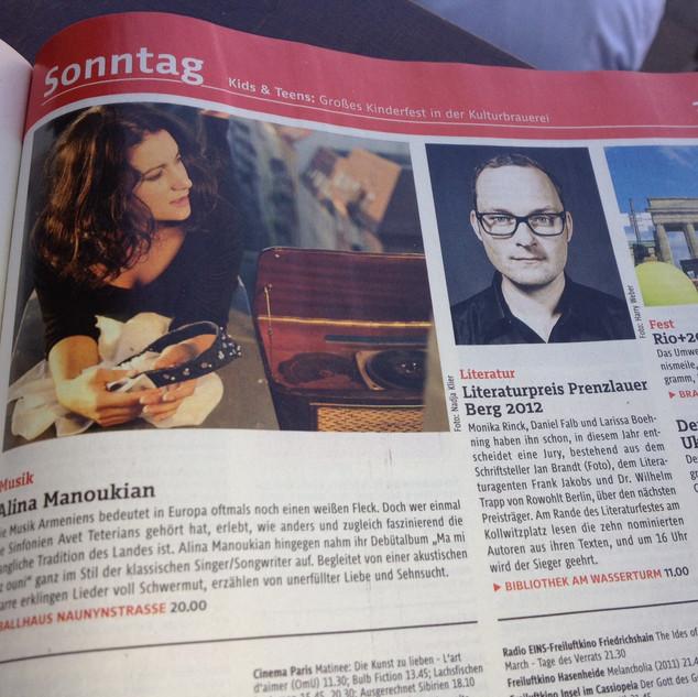 CD-Release concert Tagestipp im Tip Magazin Berlin