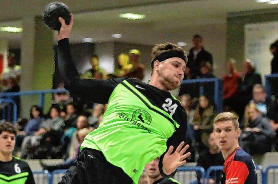 Rückraumspieler David Winkler gelangen im ersten Rundenspiel acht Tore.