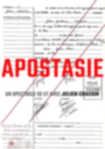 APOSTASIE affiche