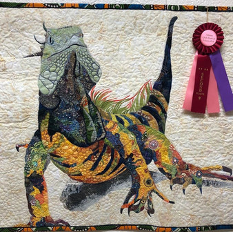 """2nd Place -  """"Marriott the Iguana"""" by Patricia Batine"""