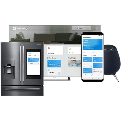 SmartThings app on Smart displays and speakers.