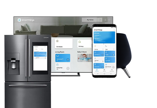 Control your home using Samsung SmartPhones, refrigerators and other smart displays using Wozart devices.