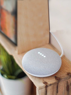 Use Google Mini with Wozart devices to control your home appliances and lights with Simple Voice commands.