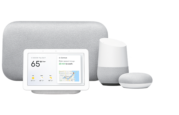Google Home Displays & speakers works with Wozart devices.