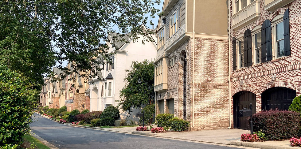 Townhomes in the Brookhaven Fields neighborhood