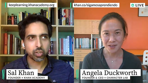 Sal Khan of Khan Academy talks with Angela Duckworth about piano lessons, deliberate practice, and the psychology of boredom
