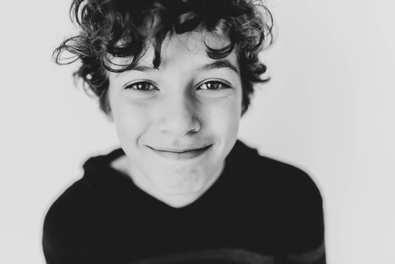 portrait of a boy b&w goochland