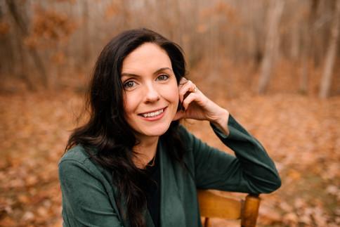 portrait of woman outside