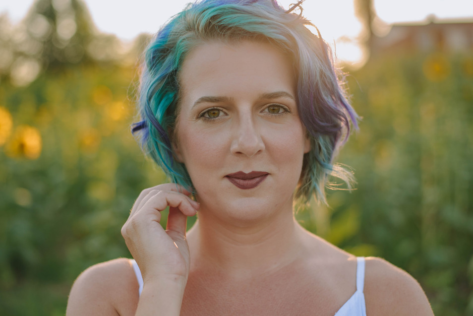 woman with colorful hair