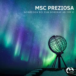 MSC PREZIOSA Norwegen bis Nordkap