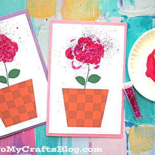 Make your own rose gift card ..... using celery!
