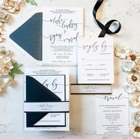 Black&White Southfield Wedding Invitations