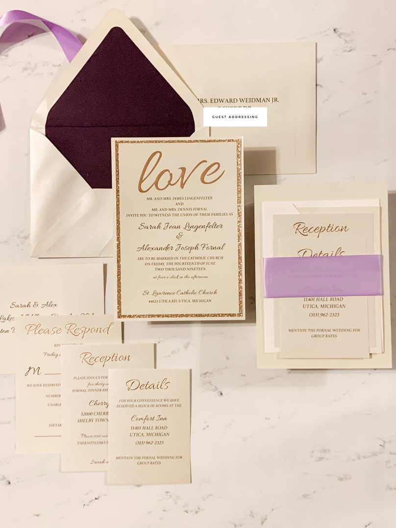 Love Wedding Invitation