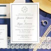 Monogram Simple Invite