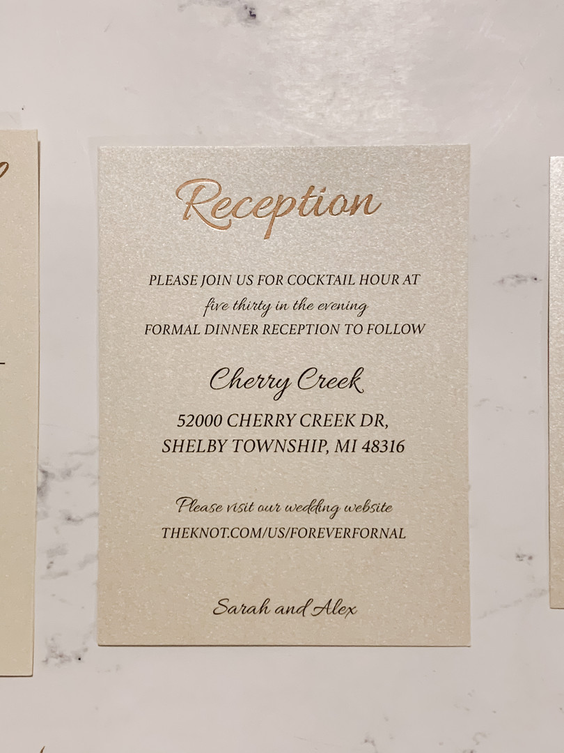 Foiled Reception Card