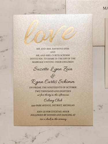 Love Wedding Invitation