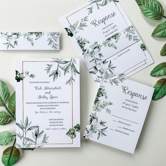 Ivy & Sage Wedding Invitation