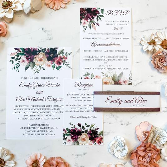 Velvet Love Wedding Invitation