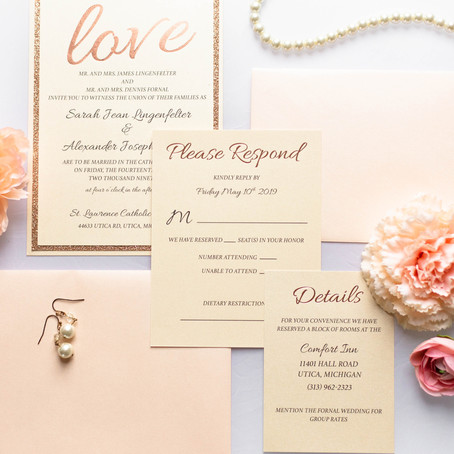 LOVE is in the air, and on your Wedding Invitations!