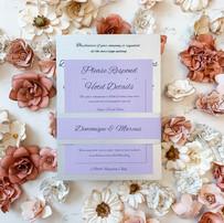 Lavender and Silver Foil Wedding Invitation