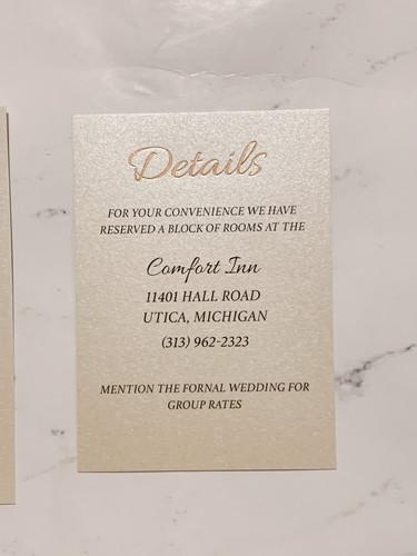 Foiled Details Card