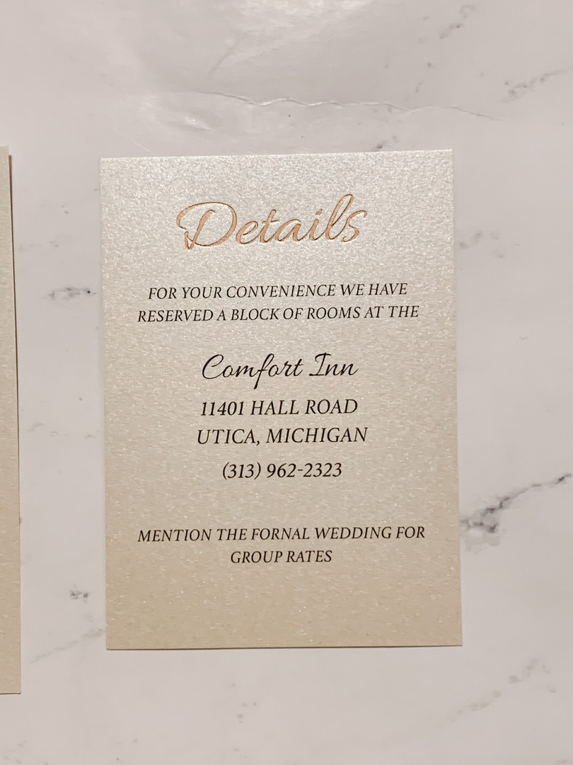 Foiled Details Card