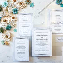 White Marble Wedding Invitation