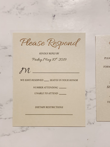 Foiled Response Card