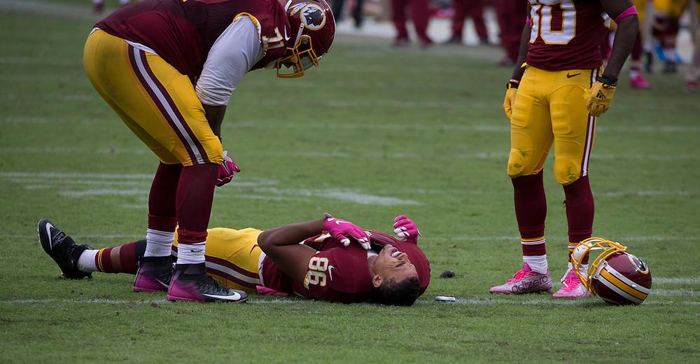 Washington Redskins Football Player Injured