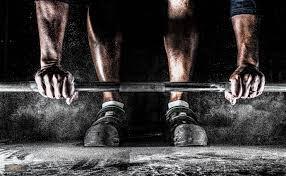 Weightlifter deadlifting