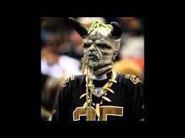 Scary New Orleans Saints Fan