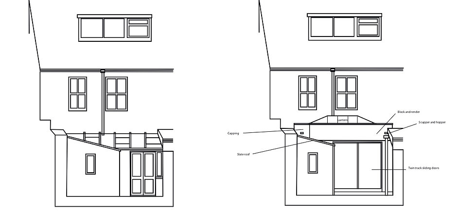 Rear Elevation Existing and Proposed.jpg