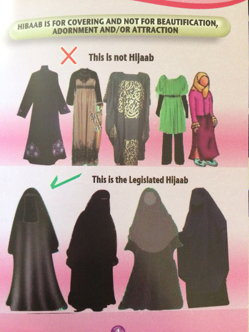 A flyer given out to female pilgrims at the Masjid al-Haram in Makkah