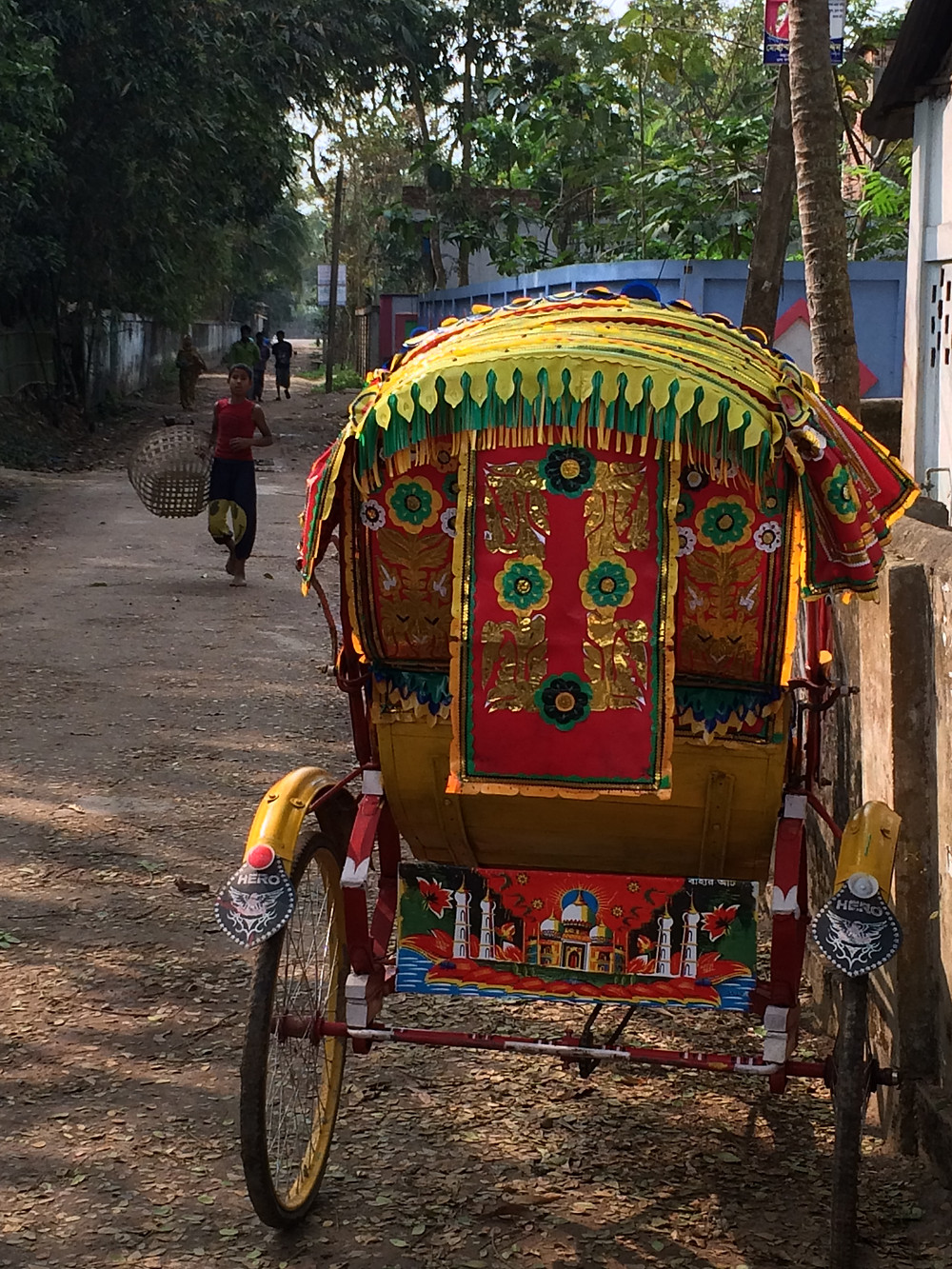 The rickshaw we rode in for our village tour