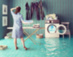 Housewife dreams. Creative concept. Phot