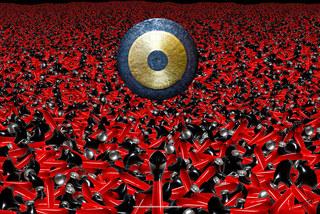 Image caricaturée - Gong symphonique - Photographie d'art.