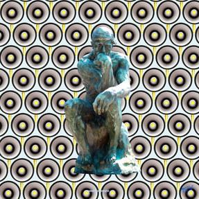 Image caricaturée - Sculpture de Rodin - Photographie d'art.