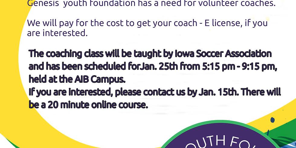 Volunteer to coach!