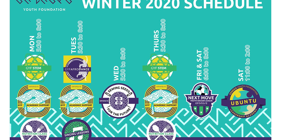 Winter Programs (Jan 6th to May 29th, 5-8pm)