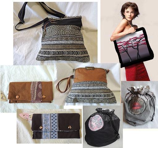 sac à main, trousse, pochette, cabas, créations de Plume