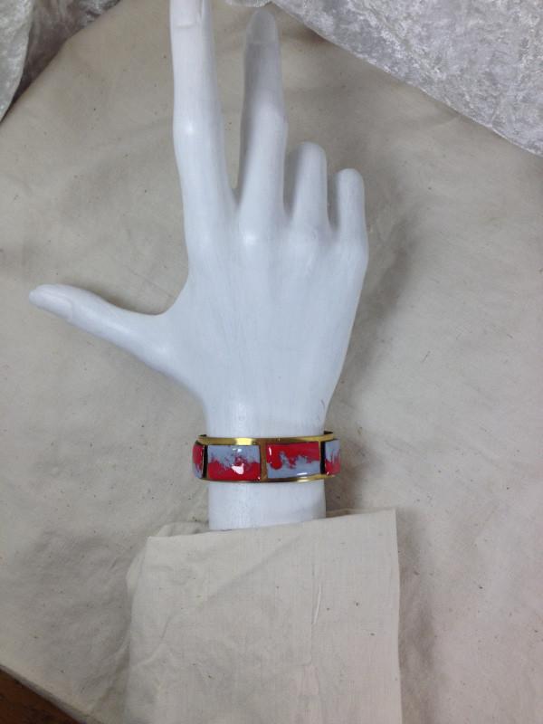 bracelet en émaux sur cuivre Christine M.