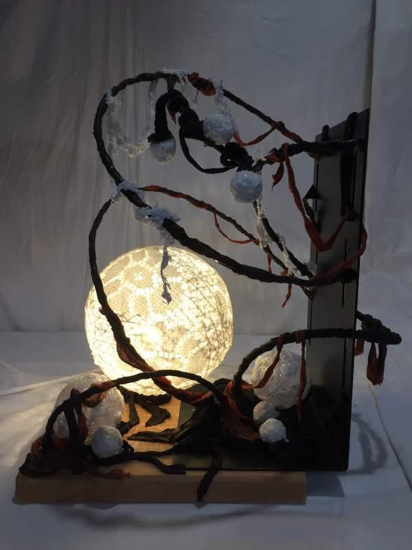 lampe-sculpture création Plume