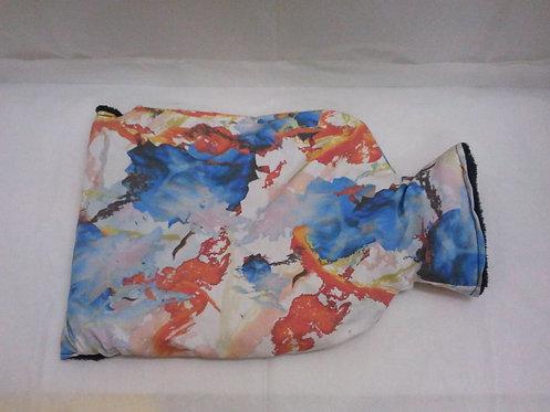 housse de bouillotte-motif abstrait rouge bleu blanc-recto-artisanat français